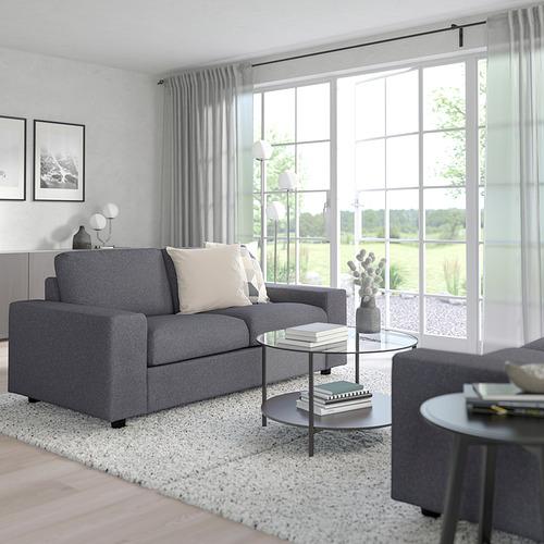 VIMLE - 兩座位梳化, 有寬闊扶手 Gunnared/暗灰色 | IKEA 香港及澳門 - PE801433_S4
