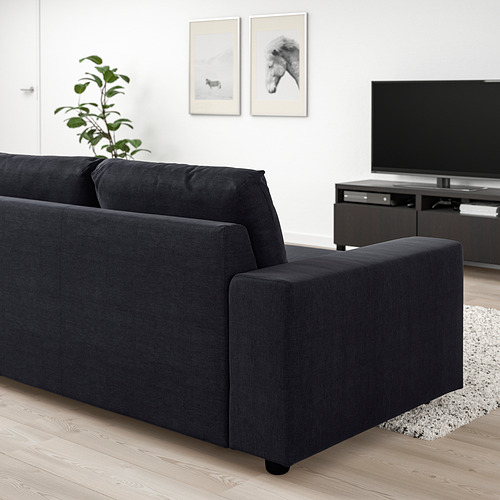 VIMLE - 兩座位梳化, 有寬闊扶手/Saxemara 藍黑色 | IKEA 香港及澳門 - PE801447_S4