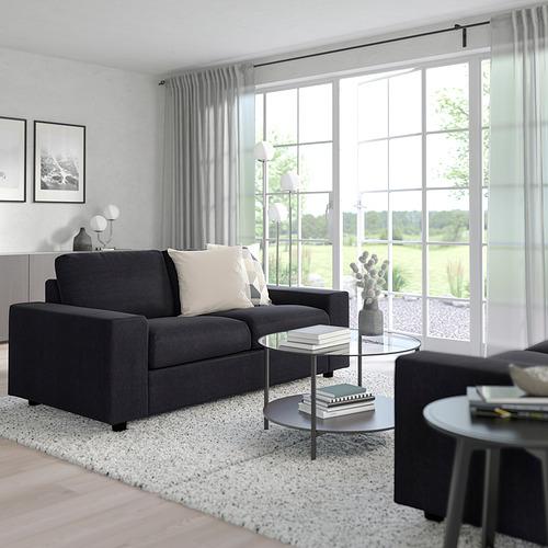 VIMLE - 兩座位梳化, 有寬闊扶手/Saxemara 藍黑色 | IKEA 香港及澳門 - PE801448_S4