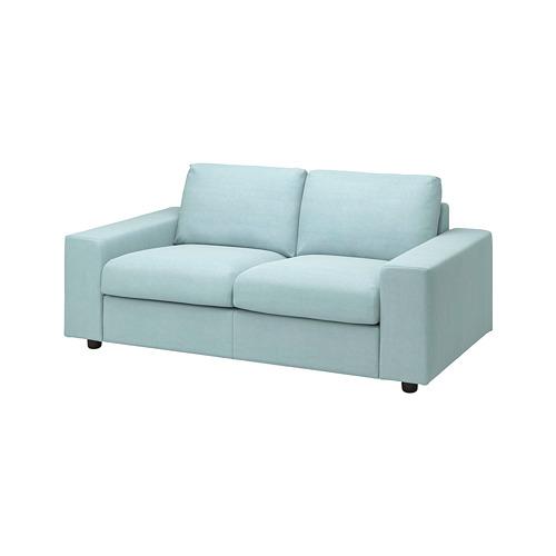 VIMLE - 兩座位梳化布套, 有寬闊扶手/Saxemara 淺藍色 | IKEA 香港及澳門 - PE801430_S4