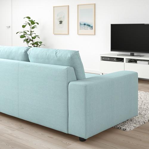 VIMLE - 三座位梳化床, 有寬闊扶手/Saxemara 淺藍色 | IKEA 香港及澳門 - PE801431_S4