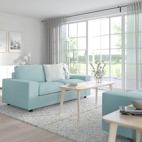 VIMLE - 兩座位梳化床, 有寬闊扶手/Saxemara 淺藍色   IKEA 香港及澳門 - PE801450_S4