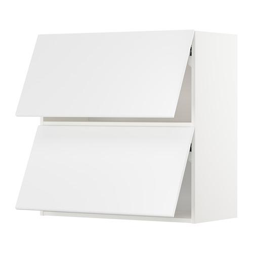 METOD - wall cab horizo 2 doors w push-open, white/Kungsbacka matt white   IKEA Hong Kong and Macau - PE707262_S4