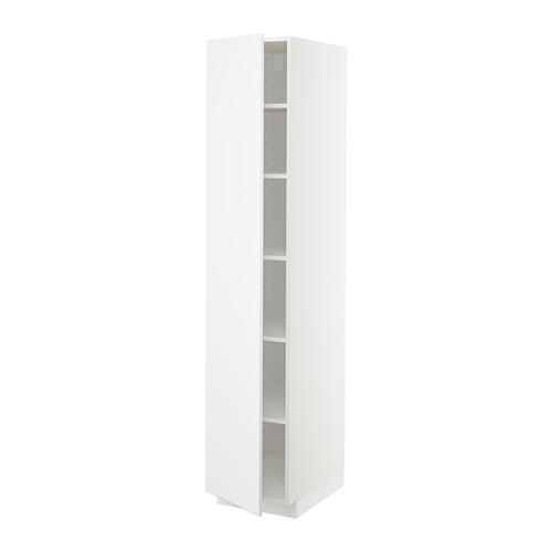 METOD high cabinet with shelves