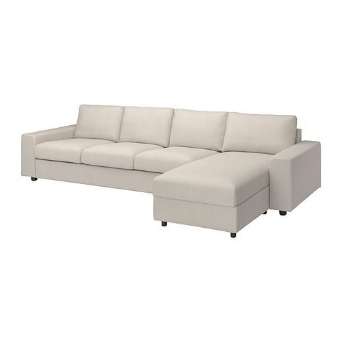 VIMLE - cover 4-seat sofa w chaise longue, with wide armrests/Gunnared beige | IKEA Hong Kong and Macau - PE801492_S4