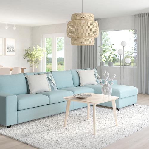 VIMLE - 四座位梳化連躺椅, with wide armrests/Saxemara light blue   IKEA 香港及澳門 - PE801484_S4