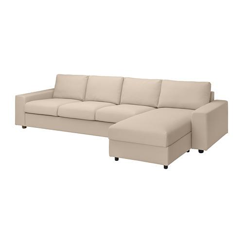 VIMLE - 四座位梳化連躺椅, with wide armrests/Hallarp beige | IKEA 香港及澳門 - PE801507_S4