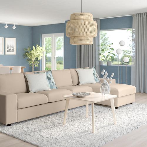 VIMLE - 四座位梳化連躺椅, with wide armrests/Hallarp beige | IKEA 香港及澳門 - PE801495_S4