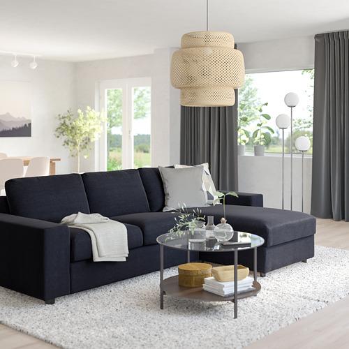 VIMLE - 三座位梳化連躺椅, with wide armrests Saxemara/black-blue | IKEA 香港及澳門 - PE801512_S4