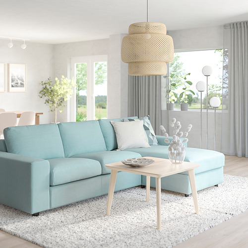 VIMLE - 3-seat sofa with chaise longue, with wide armrests Saxemara/light blue | IKEA Hong Kong and Macau - PE801525_S4