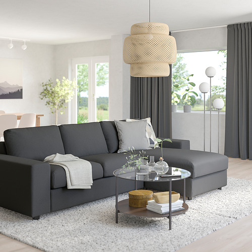 VIMLE - 3-seat sofa with chaise longue, with wide armrests/Hallarp grey | IKEA Hong Kong and Macau - PE801523_S4