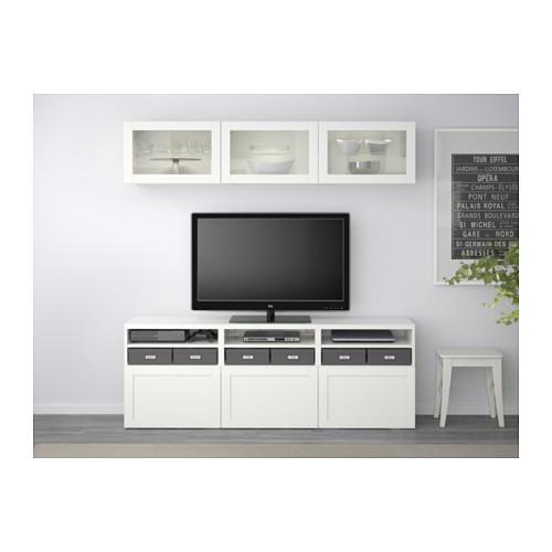 BESTÅ - 電視貯物組合/玻璃門, Hanviken 白色/透明玻璃 | IKEA 香港及澳門 - PE537913_S4