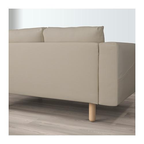NORSBORG - 4-seat sofa, with chaise longue/Edum beige/birch | IKEA Hong Kong and Macau - PE659277_S4