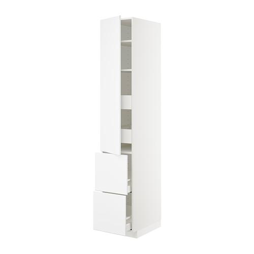 METOD/MAXIMERA - hi cab w shlvs/4 drawers/dr/2 frnts, white/Kungsbacka matt white | IKEA Hong Kong and Macau - PE707327_S4