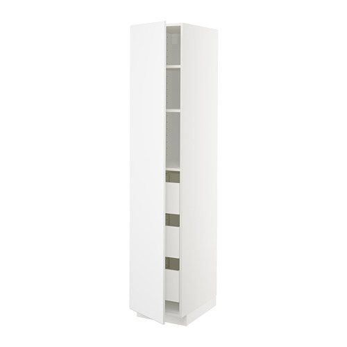 METOD/MAXIMERA high cabinet with drawers