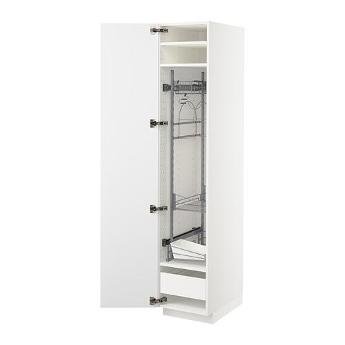 METOD/FÖRVARA high cabinet with cleaning interior