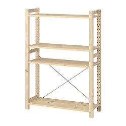 IVAR - 層架組合, 89x30x124 cm, 松木 | IKEA 香港及澳門 - PE747338_S3