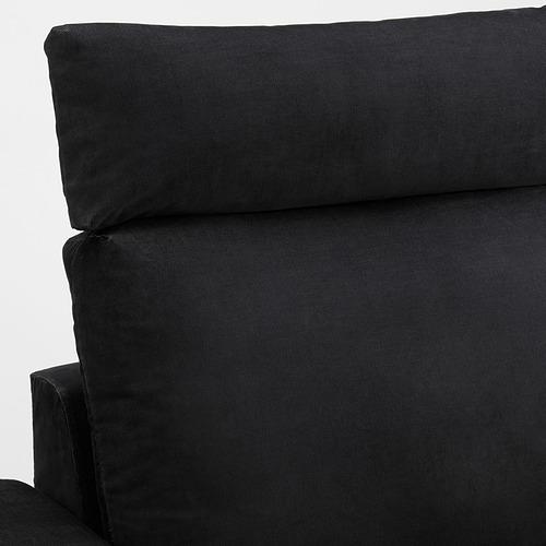 VIMLE - 三座位梳化連躺椅, with wide armrests with headrest/Saxemara black-blue   IKEA 香港及澳門 - PE801567_S4
