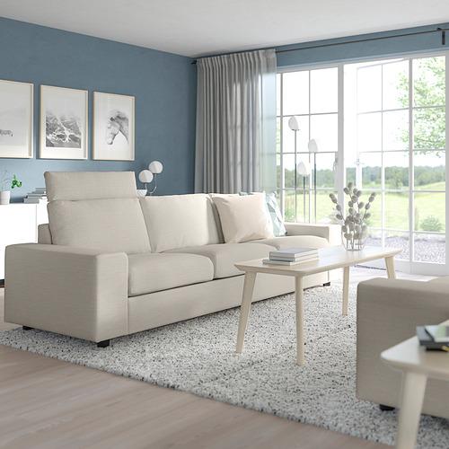 VIMLE - 三座位梳化, with headrest with wide armrests/Gunnared beige | IKEA 香港及澳門 - PE801570_S4