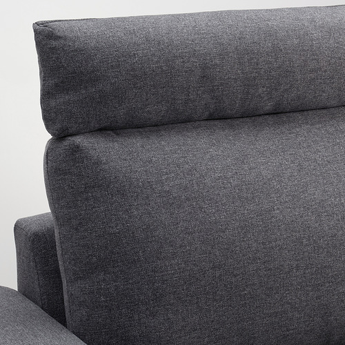 VIMLE - 3-seat sofa, with headrest with wide armrests/Gunnared medium grey | IKEA Hong Kong and Macau - PE801560_S4