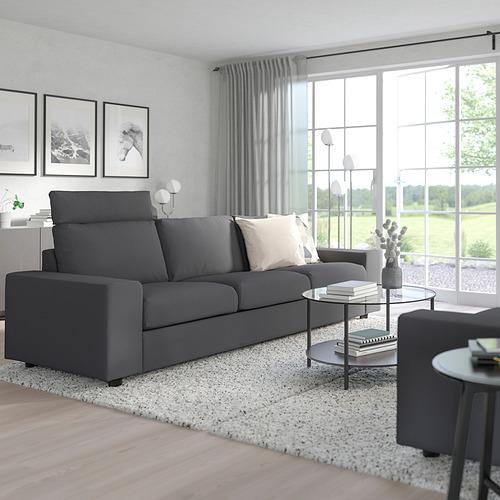 VIMLE - 三座位梳化, 連頭枕 有寬闊扶手/Hallarp 灰色 | IKEA 香港及澳門 - PE801556_S4