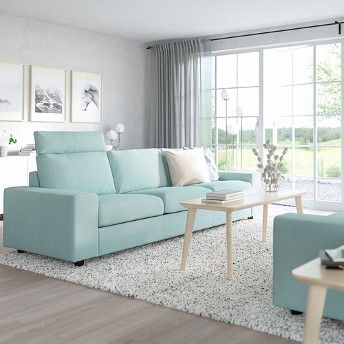VIMLE - 三座位梳化, with headrest with wide armrests/Saxemara light blue   IKEA 香港及澳門 - PE801565_S4