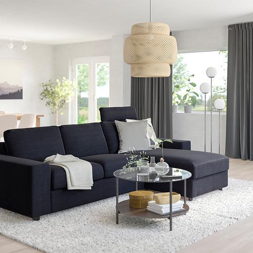 VIMLE - 三座位梳化連躺椅, with wide armrests with headrest/Saxemara black-blue   IKEA 香港及澳門 - PE801598_S4