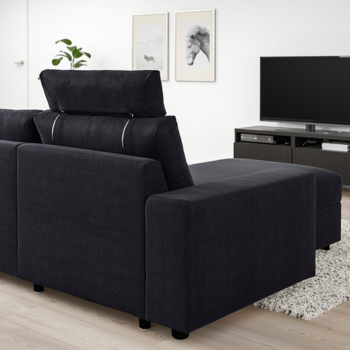 VIMLE - 三座位梳化連躺椅, with wide armrests with headrest/Saxemara black-blue   IKEA 香港及澳門 - PE801587_S4