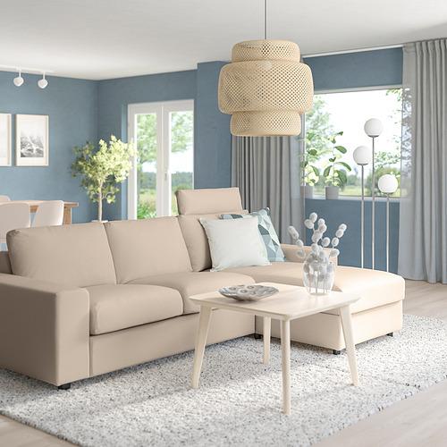 VIMLE - 三座位梳化連躺椅, with wide armrests with headrest/Hallarp beige | IKEA 香港及澳門 - PE801583_S4