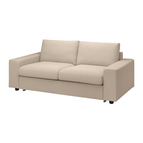 VIMLE - 兩座位梳化床布套, with wide armrests/Hallarp beige | IKEA 香港及澳門 - PE801617_S4