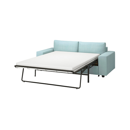 VIMLE - 兩座位梳化床, 有寬闊扶手/Saxemara 淺藍色   IKEA 香港及澳門 - PE801607_S4