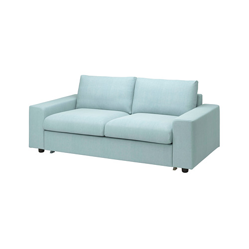 VIMLE - 兩座位梳化床布套, with wide armrests/Saxemara light blue   IKEA 香港及澳門 - PE801622_S4