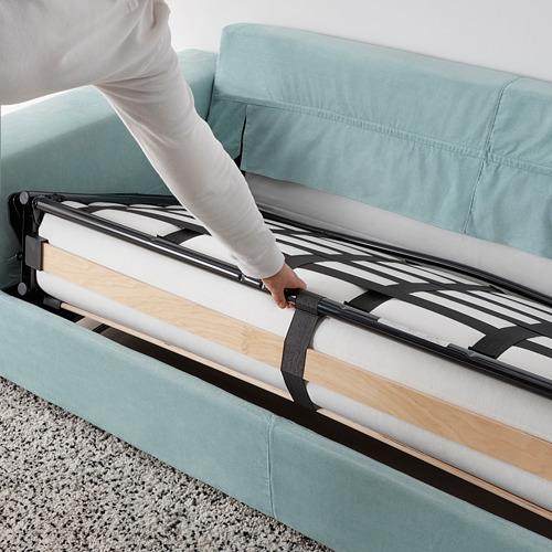 VIMLE - 兩座位梳化床, 有寬闊扶手/Saxemara 淺藍色   IKEA 香港及澳門 - PE801602_S4