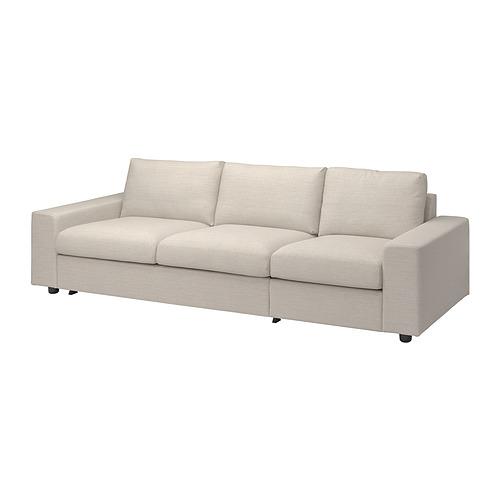 VIMLE - 三座位梳化床布套, with wide armrests/Gunnared beige | IKEA 香港及澳門 - PE801625_S4