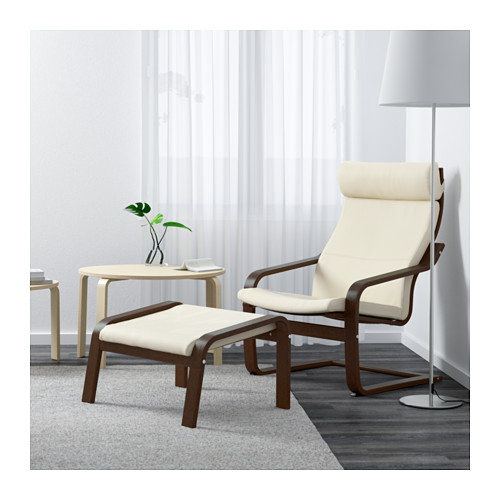 POÄNG - 扶手椅, 褐色/Glose 奶白色 | IKEA 香港及澳門 - PE601124_S4