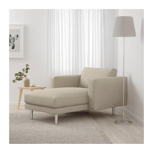 NORSBORG - chaise longue, Edum beige/metal | IKEA Hong Kong and Macau - PE659361_S4