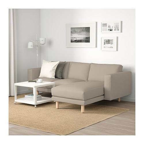 NORSBORG - 3-seat sofa, with chaise longue/Edum beige/birch | IKEA Hong Kong and Macau - PE659365_S4