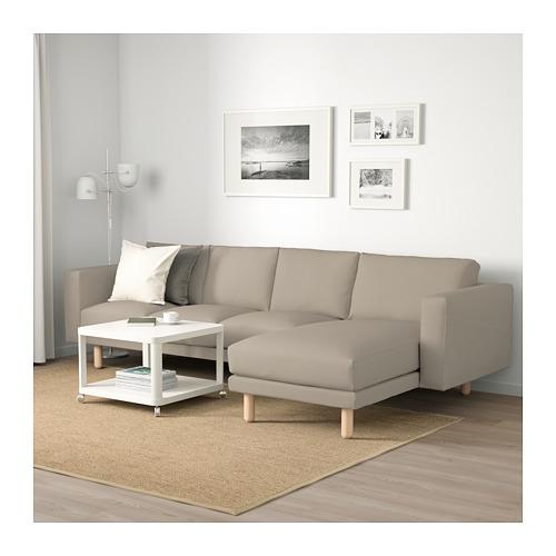 NORSBORG - 4-seat sofa, with chaise longue/Edum beige/birch | IKEA Hong Kong and Macau - PE659350_S4