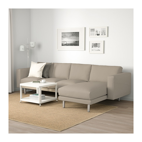 NORSBORG - 4-seat sofa, with chaise longue/Edum beige/metal | IKEA Hong Kong and Macau - PE659355_S4