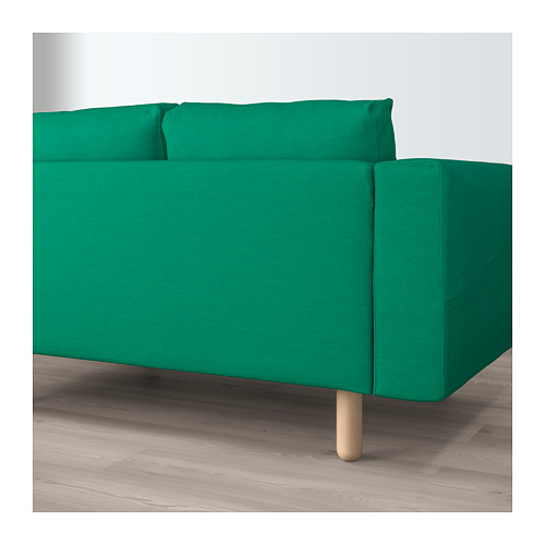 NORSBORG - 3-seat sofa, with chaise longue/Edum bright green/birch             | IKEA Hong Kong and Macau - PE659344_S4