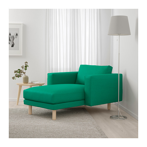 NORSBORG - chaise longue, Edum bright green/birch | IKEA Hong Kong and Macau - PE659379_S4