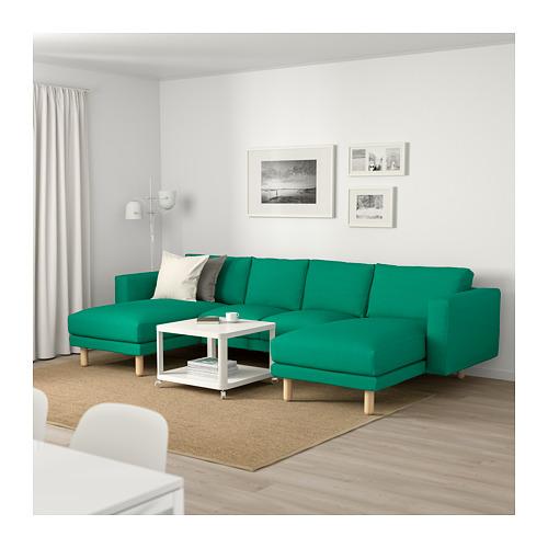 NORSBORG - 四座位梳化, 連躺椅/Edum 鮮綠色/樺木   IKEA 香港及澳門 - PE659380_S4