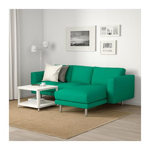 NORSBORG - 3-seat sofa, with chaise longue/Edum bright green/metal | IKEA Hong Kong and Macau - PE659372_S4