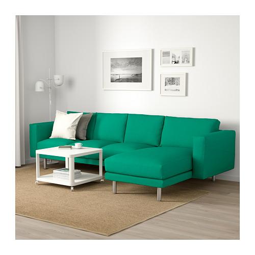 NORSBORG - 4-seat sofa, with chaise longue/Edum bright green/metal | IKEA Hong Kong and Macau - PE659377_S4