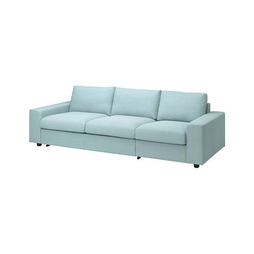 VIMLE - 三座位梳化床, 有寬闊扶手/Saxemara 淺藍色 | IKEA 香港及澳門 - PE801635_S4