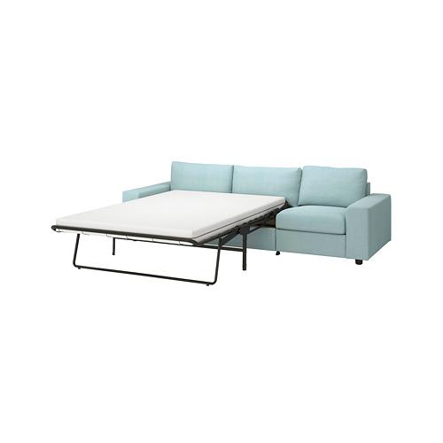 VIMLE - 三座位梳化床, 有寬闊扶手/Saxemara 淺藍色 | IKEA 香港及澳門 - PE801636_S4