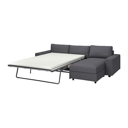 VIMLE - 三座位梳化連躺椅, with wide armrests Gunnared/medium grey | IKEA 香港及澳門 - PE801666_S4