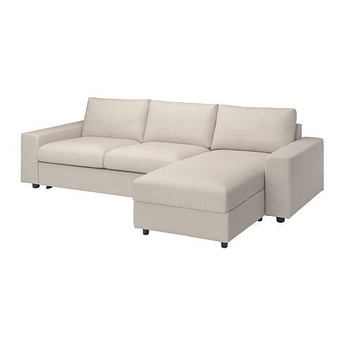 VIMLE - 三座位梳化床連躺椅布套, with wide armrests Gunnared/beige   IKEA 香港及澳門 - PE801646_S4