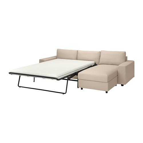 VIMLE - 三座位梳化連躺椅, with wide armrests/Hallarp beige | IKEA 香港及澳門 - PE801659_S4