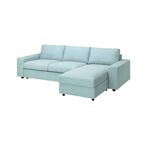 VIMLE - 三座位梳化連躺椅, with wide armrests/Saxemara light blue | IKEA 香港及澳門 - PE801652_S4